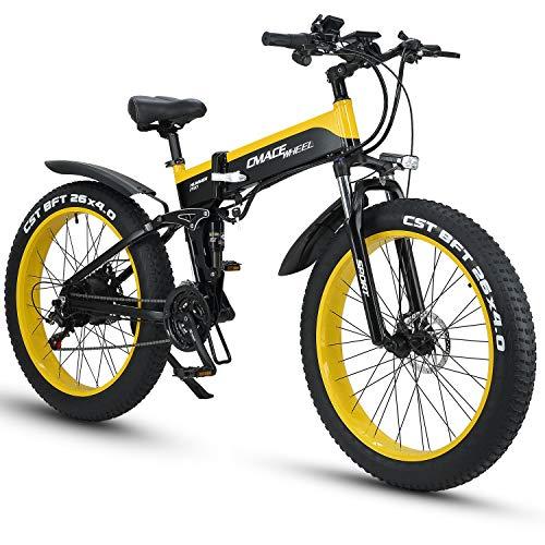 XXCY X26 1000w Bicicleta Híbrida Eléctrica 26 Pulgadas Fat Bike 48v 12.8ah...