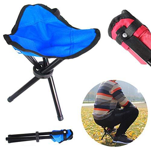 WWJJLL Gemütlich Fischen-Stuhl, Outdoor-Freizeit Hocker, tragbare Klapphocker für Barbecue Bergsteigen, Wandern, Camping, Angeln Zubehör,Blau