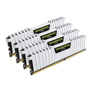Corsair CMK32GX4M4B3200C16W Vengeance LPX 32GB DDR4 3200 C16 for DDR4 Systems - White (B01EI5ZH28) | Amazon price tracker / tracking, Amazon price history charts, Amazon price watches, Amazon price drop alerts