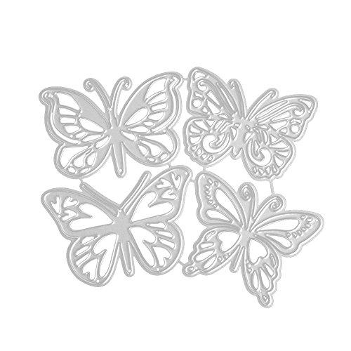 ONEVER Fustelle Figura della Farfalla Carte Decorative Bordi Metallici Stencil per Greeting Card Copertura goffratura Stencil Fai da Te Scrapbooking Album (Farfalla)