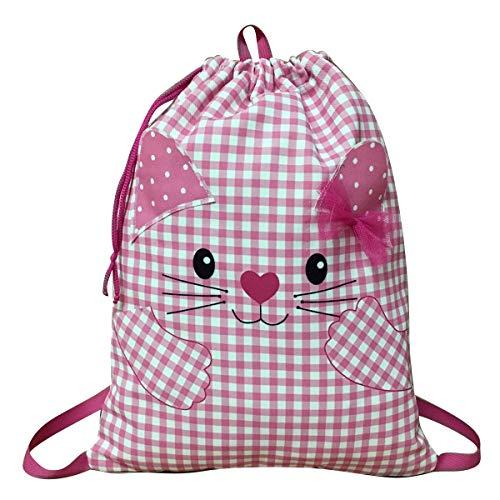 ARTEMODEL- Kissen Kommunion Kind Katze rosa Rucksack Peq Farbe (1)