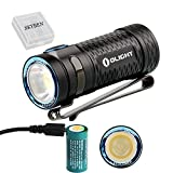 Olight S1 MINI Cree XP-G3 LED 450 Lumens Ultra Compact LED Flashlight Smallest Side-switch Flashlight with USB Rechargeable 16340 Battery x 1 and SKYBEN Accessory(S1 MINI HCRI)