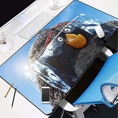 YVQLXJ Alfombrilla de Ratón Extra Tamaño Grandes Pájaro de dibujos animados lindo congelado XXXL Alfombrilla Ratón con Bordes Cosidos Base de Goma Antideslizante para Ratón PC/Mac/Ordenador Portátil 1