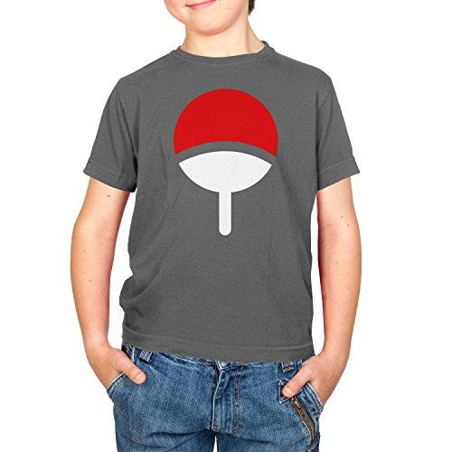 Texlab Jungen Familie Uchiha T-Shirt, Grau, 7-8 Jahre-128 (M)
