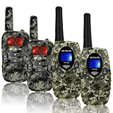 Retevis RT628 Walkie Talkies for Kids,Army Toys for Boys Birthday Gifts and RT33 Walkie Talkies for Girls 5-12 Year Old,Children Gift to Outside Adventure(4 Pack)