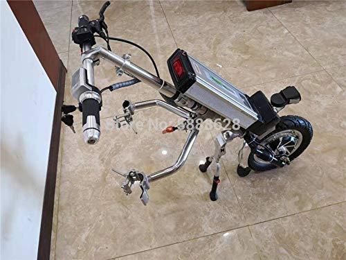 GNLIAN HUAHUA Silla de Ruedas eléctrica 2020 500W 52V 20Ah Power Motor Handbike eléctrico para Deportes Silla de Ruedas Handcycle al Aire Libre (Color : Two Side Connector)