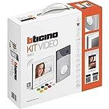 BTicino 363911 Kit Portier Résidentiel Vidéo Couleur Mains-Libres à Mémoire D'image Classe 300X, WiFi Connecté, Blanc