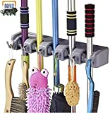 ★ At a time holds 5 mops, brooms or other tools and has 6 hooks for hanging smaller objects like dustpan and brushes Rolling ball. 6 hooks that can be pulled down for use or pushed back up if not needed. ★ The beauty of this mop holder is its design ...
