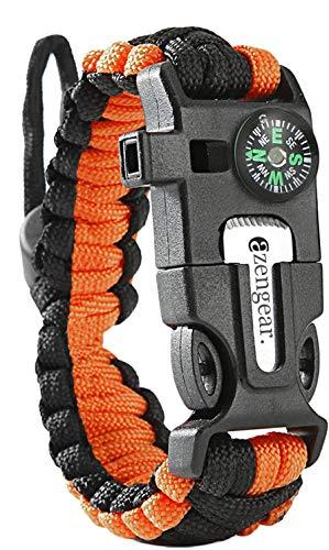 aZengear Paracord Survival Armband Kit, Survival Armband mit Feuerstein, Kompass, Pfeife, Schirmseil, Multi-Werkzeug, Überlebensarmband zum Outdoor-Aktivitäten, Notfallausstattung
