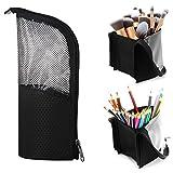 Makeup Brush Organzier Bag,High Capacity Portable Stand-Up Makeup Brush Holder,Professiona...