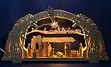 3D Schwibbogen Christi Geburt mit Krippe geschnitzt Handarbeit Erzgebirge