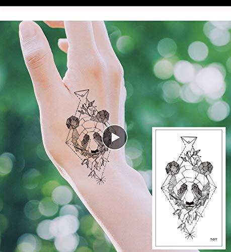 LFVGUIOP Tatuajes temporales -Panda geométrica Moda sección de ...