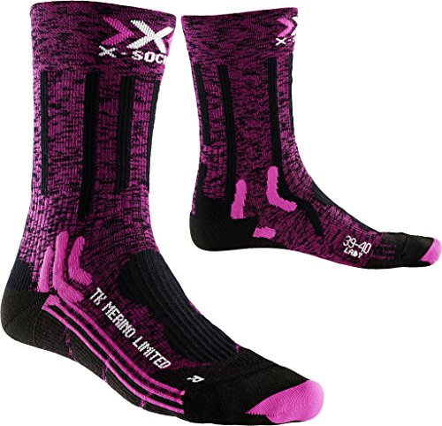 X-Socks Damen Socken TREKKING MERINO LIMITED LADY, Pink/Black, 39/40, X100078