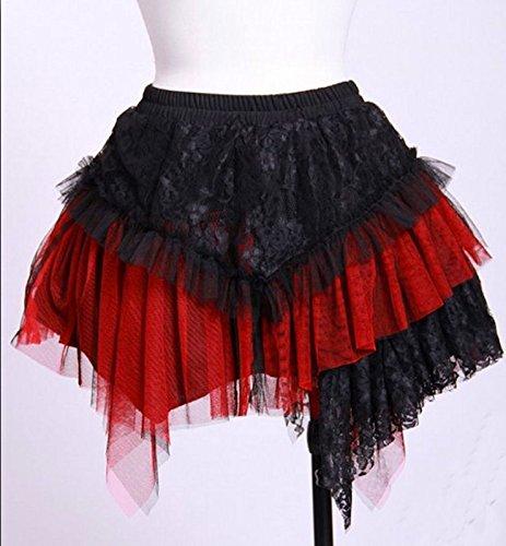 Dark Dreams Gothic Mittelalter LARP Rock Amelia schwarz rot - 4