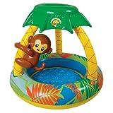 Poolmaster 81610 Learn-to-Swim Go Bananas Monkey Swimming Pool with Sun Protection, Monkey