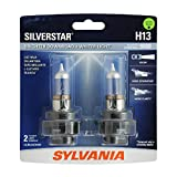 SYLVANIA - H13 SilverStar - High Performance Halogen Headlight Bulb, High Beam, Low Beam and Fog Replacement Bulb, Brighter Downroad with Whiter Light (Contains 2 Bulbs)