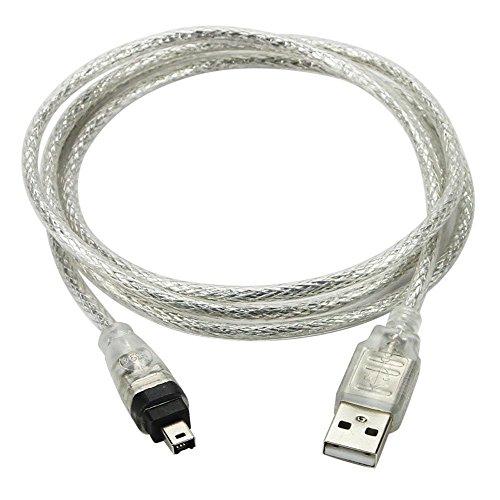 Yooger 1.5M USB Datenkabel, IEEE 1394 4 Pin auf USB Ministecker Firewire für Mini DV HDV Camcorder zu bearbeiten