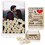 V-COSTA Wedding Guest Book Alternative with Hearts for Wedding Sign in | Wedding Memory Supplies -...