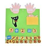 Juguetes educativos hechos a mano de lana hechos a mano para niños novedad Dedos Números Contador de lana de fieltro Set de juguete Tipo C
