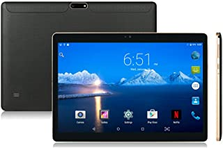 """Android Tablet 10 inch with Sim Card Slot Unlocked - YELLYOUTH 10.1"""" Octa Core 4GB RAM 64GB ROM Tablets with WiFi Bluetooth GPS and Dual Cameras 3G GSM Phablet - Black"""