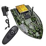 Sugoyi Fischköder Boot, 500m Fernbedienung RC Fischköder Köder Boot Wireless Night Fish Finder mit LED-Licht(EU)