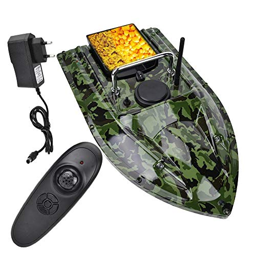 Fish Bait Boat, 500m Telecomando RC Esca da Pesca Bait Boat Wireless Night Fish Finder con Luce a LED(Unione Europea)