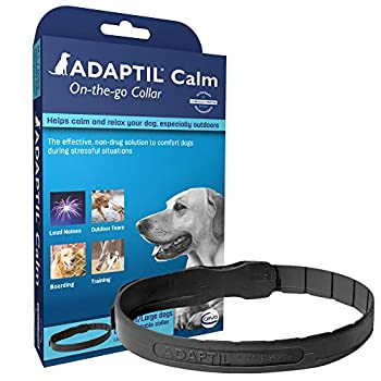 ADAPTIL Calming Collar for Dogs A Constant Calm Anywhere You Go Medium/Large Black
