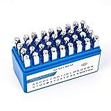 BENECREAT 36 Piezas 6mm Sellos de Letras y Números Herramientas Estampadas de Acero de Carbono Caja...