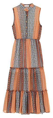 Molly Brcken Kleid mittellang bedruckt Gr.  Medium, hellblau