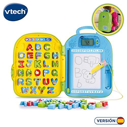 VTech-80-603422 Mochila Educativa Dibuletras Aprende A Escribir L, Color Verde, 31 cm x 44 cm x 3.5 cm (80-603422)