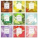 SCENTORINI 9 bolsitas de Fragancia de 30 g para cajones, armarios, Cereza, algodón Fresco, pachulí, Caramelo, Sakura, bergamota, Lavanda, Lino, ylang-ylang
