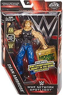 WWE Elite Collection, WWE Network Spotlight 6 Dean Ambrose figure with Championship & Money in the Bank Briefcase