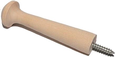 Screw-On Shaker Pegs Birch Hardwood - 2.9-Inch Wood Length Plus Hangerbolt - 10-Pack