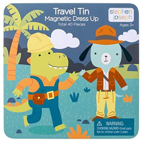 STEPHEN JOSEPH Magnetic Dress UP Doll Dino and Lion