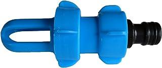 AQWater4all Blue Magic - Adaptador de llenado y vaciado para cama de agua (con conexión de manguera compatible con Gardena), plástico, azul, 12.2 x 6.8 x 5 cm