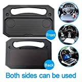 XBY-US Car Steering Wheel Tray,Auto Steering Wheel Desk for Laptop, Food,Snack,Dining,Drinking, Steering Wheel Eating Table Tray for Vehicle Drivers