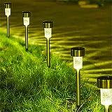 Lámparas de luminaria de calle con luces solares LED para exteriores para decoración de jardines luces de camino con energía solar-Warm_4Pcs