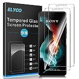 ELYCO [2 Piezas] Protector Pantalla para Sony Xperia 10 II, [9H Dureza] [Alta Definicion] Anti-caída/Anti-rasguños Cristal Templado Vidrio Templado para Sony Xperia 10 II [Libre de burbuj]