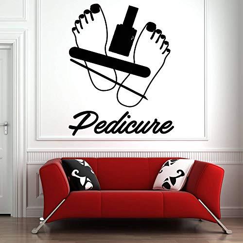 Calcomanía de pared para salón de uñas, esmalte de uñas, pegatina de pared, patrón, manicura, pedicura, salón de belleza, decoración del hogar