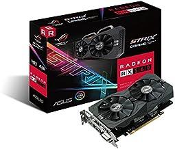 ASUS ROG-STRIX-RX560-4G-GAMING Radeon RX 560 4GB GDDR5 - Tarjeta gráfica (AMD, Radeon RX 560, 5120 x 2880 Pixeles, 1275 MHz, 1285 MHz, 4 GB)