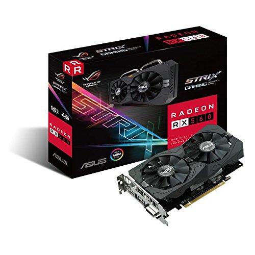 Asus 90YV0AH0-M0NA00 Radeon zwart ROG STRIX RX 560 4G Gaming grafische kaart zwart