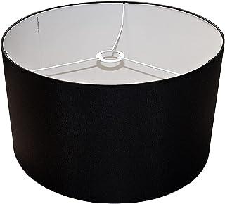 Abażur 450x260 mm średnica x wysokość   Walec   Bawełna czarna   Pod oprawkę E27   Do lamp stołowych, podłogowych i wisząc...