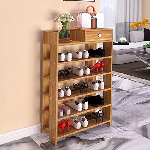 Zapatero Shoes Rack Zapatero Los estantes del Zapatos estante del zapato del organizador del almacenaje del zapato del cajón del gabinete de madera del zapato de polvo for los gabinetes Sala Puerta de