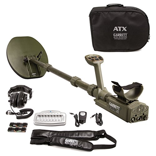 """Garrett ATX Pulse Induction Metal Detector with 11x13"""" Mono Closed Searchcoil"""