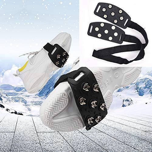 HandinHand 2 Paar Eisstollen Schnee-Griffe, mit 7 Krallen, rutschfeste Nägel, für Outdoor, sicheres Schnee-Wandern, Skifahren, Frauen