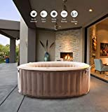 MSpa Elite Reve Jet Plus Bubble Spa Portable Hot Tub, 700 liters, Champagne Gold, 1.8x1.8x0.7 m