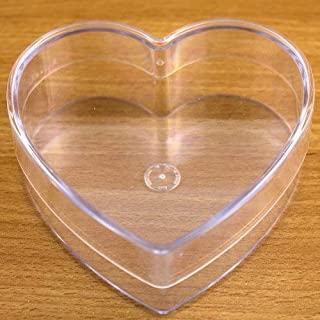 Heart Shaped Box Fillable Transparent Plastic Container gift by Yolli