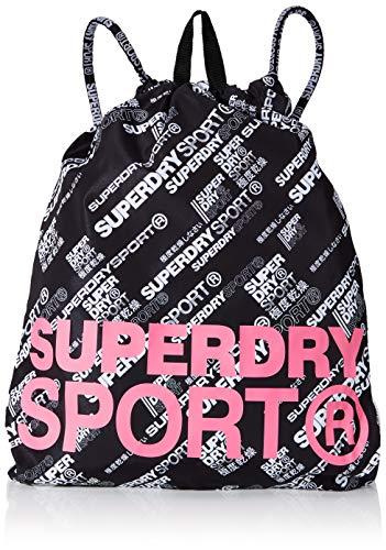 Superdry Damen Sport Drawstring Bag Rucksack, Mehrfarbig (Mono Diagonal Logo), 35x1x45 cm