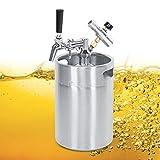 Oyunngs 5L Bierfass-System, Edelstahl-Bierfass Einstellbarer Zapfbierspeer 2-Klassen-Manometer für Craft Beer, Draft und Homebrew