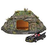 Department 56 DC Comics Village Batman Batcave Entrance and Batmobile Lit Building and Accessory Set, 4.33 Inch, Multicolor